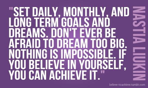 goals - achieve