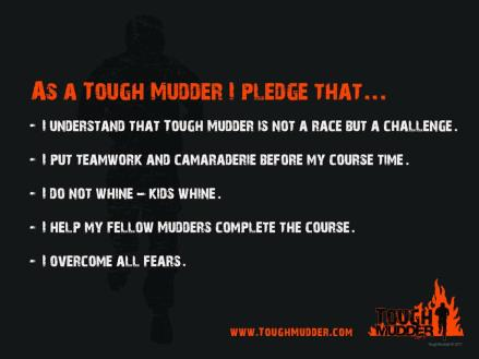 tough mudder pledge